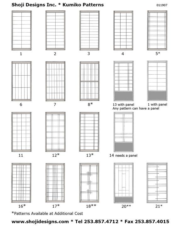 Kumiko Style Sheet Shoji Designs Inc