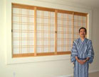 Part room divider and part pass-through shoji screens