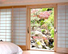 Japanese shoji screens for sliding glass door and windows