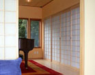 Shoji screen room dividers and audio closet doors