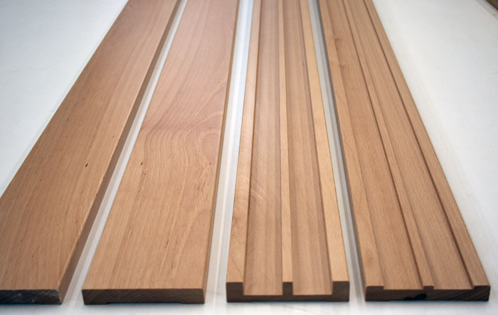 For window shoji, upper and lower wood track profile